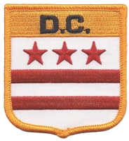 1405 - D.C.  (District of Columbia, DC) medium flag shield uniform or souvenir embroidered patch