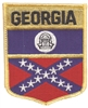 1502 - GEORGIA large flag shield embroidered patch for souvenir or uniform