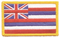 1554 - Hawaii flag uniform or souvenir embroidered patch, HI