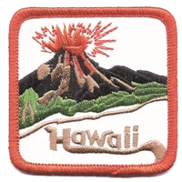 1559 - Hawaii volcano souvenir embroidered patch, HI