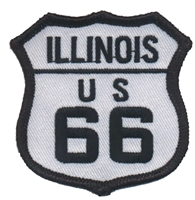 ILLINOIS US 66 souvenir embroidered patch, IL