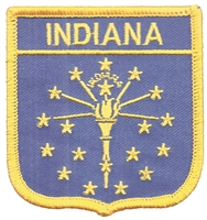 INDIANA medium flag shield souvenir patch.