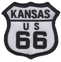 KANSAS US 66 souvenir embroidered patch, KS