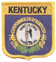 1855 - KENTUCKY medium flag shield uniform or souvenir embroidered patch, KY