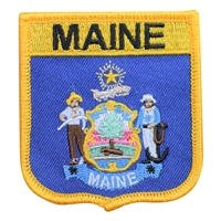 1955 - MAINE medium flag shield uniform or souvenir embroidered patch