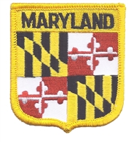 2005 - MARYLAND medium flag shield uniform or souvenir embroidered patch