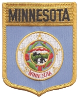 2152 - MINNESOTA large flag shield uniform or souvenir embroidered patch