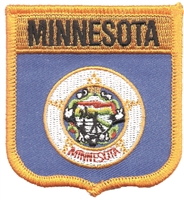 MINNESOTA medium flag shield embroidered patch