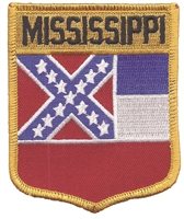 2202 - MISSISSIPPI large flag shield uniform or souvenir embroidered patch