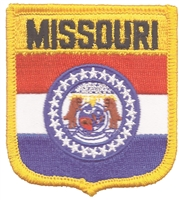 2255 - MISSOURI medium flag shield uniform or souvenir embroidered patch