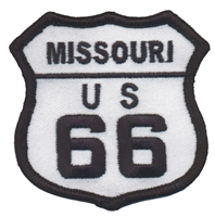 MISSOURI US 66 souvenir embroidered patch, route 66