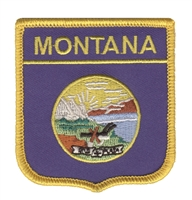 2305 - MONTANA medium flag shield souvenir embroidered patch