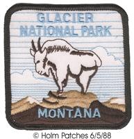2348 - GLACIER NATIONAL PARK MONTANA souvenir embroidered patch