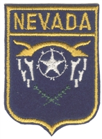 2401 - NEVADA small flag shield souvenir embroidered patch