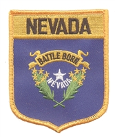 2402 - NEVADA large flag shield uniform or souvenir embroidered patch