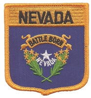 2405 - NEVADA medium flag shield uniform or souvenir embroidered patch