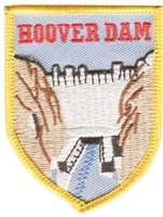 2446 - HOOVER DAM shield souvenir embroidered patch