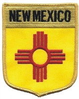 2552 - NEW MEXICO large flag shield uniform or souvenir embroidered patch
