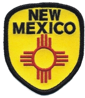 NEW MEXICO zia  shield souvenir embroidered patch
