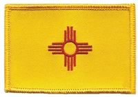2554 - New Mexico flag uniform or souvenir embroidered patch