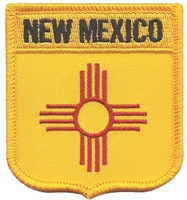2555 - NEW MEXICO medium flag shield uniform or souvenir embroidered patch