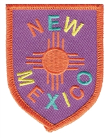 NEW MEXICO colorful zia shield souvenir embroidered patch