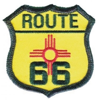 ROUTE 66 on NM flag souvenir embroidered patch