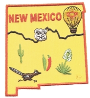 NEW MEXICO state shape  map souvenir embroidered patch.