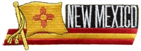 2576 - NEW MEXICO wavy flag ribbon souvenir embroidered patch