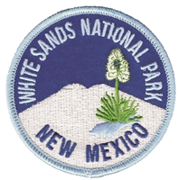 WHITE SANDS NATIONAL PARK souvenir embroidered patch
