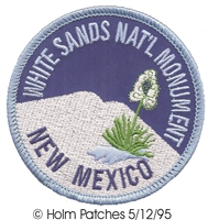 WHITE SANDS NAT'L MONUMENT souvenir embroidered patch