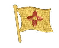 2586 - New Mexico wavy flag souvenir embroidered patch
