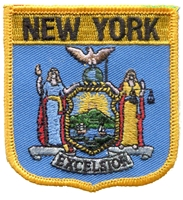 2605 - NEW YORK medium flag shield souvenir embroidered patch