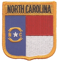 2655 - NORTH CAROLINA medium flag shield uniform or souvenir embroidered patch