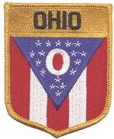 2752 - OHIO large flag shield uniform or souvenir embroidered patch