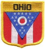2755 - OHIO medium flag shield uniform or souvenir embroidered patch
