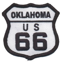 OKLAHOMA US 66 souvenir embroidered patch