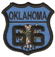 OKLAHOMA 66 flag shield embroidered souvenir patch