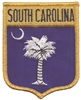 3002 - SOUTH CAROLINA large flag shield uniform or souvenir embroidered patch