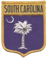 SOUTH CAROLINA large flag shield uniform or souvenir embroidered patch, SC