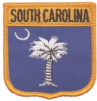 SOUTH CAROLINA medium flag shield uniform or souvenir embroidered patch, SC