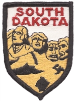 SD, SOUTH DAKOTA Mt. Rushmore shield uniform or souvenir embroidered patch