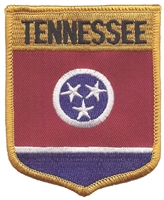 3102 - TENNESSEE large flag shield uniform or souvenir embroidered patch