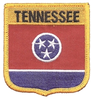 3105 - TENNESSEE medium flag shielduniform or souvenir embroidered patch