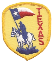 3153 - TEXAS souvenir shield patch