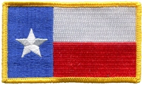 3154 - Texas flag souvenir or uniform embroidered patch