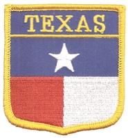3155 - TEXAS medium flag shield uniform or souvenir embroidered patch