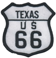 TEXAS US 66 souvenir embroidered patch