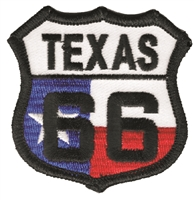 TEXAS 66 flag shield embroidered souvenir patch, TX