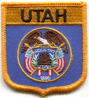 3205 - UTAH medium flag shield uniform or souvenir embroidered patch